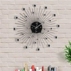 Horloge Murale Métal et Cristal