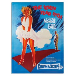 Affiche de Ciné Marilyn Monroe The Seven Year Itch