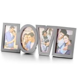 Cadre Photo Romantique LOVE en Acier Inoxydable