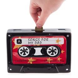 Tirelire Céramique Cassette Retro