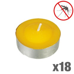 Bougies Citronnelle Anti Moustiques (Pack de 18)