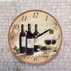 Horloge Murale Autour du Vin