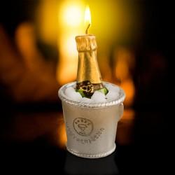Bougie Décorative Champagne