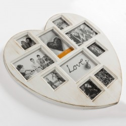 Porte-Photos Heart Vintage Coconut (10 photos)