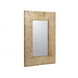 Miroir mosaïque doré