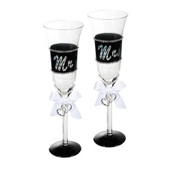 Flûtes de Champagne Mr & Mrs
