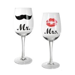 Verres à Vin Mr & Mrs