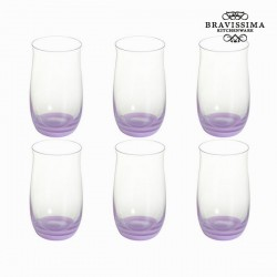 Lot de 6 verres lilas - Collection Crystal Colours Kitchen by Bravissima Kitchen