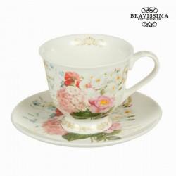 Tasse avec soucoupe flowers bouquet - Collection Kitchen's Deco by Bravissima Kitchen