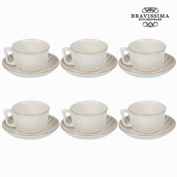 Lot de 6 tasses à thé avec soucoupe - Collection Kitchen's Deco by Bravissima Kitchen