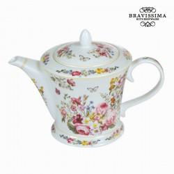Théière en porcelaine bloom white - Collection Kitchen's Deco by Bravissima Kitchen