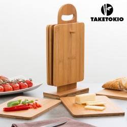 Set de Planches de Cuisine en Bambou avec Support TakeTokio (7 pièces)