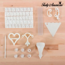 Kit de Décoration de Gâteaux Tasty American (100 pièces)