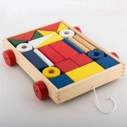 Chariot avec Blocs de Construction (24 pièces)
