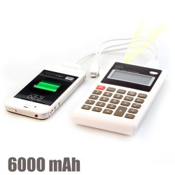 Calculatrice-Chargeur de Batterie USB 6000 mAh