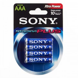 Piles Alcalines Plus Sony AAA LR03 d'1,5V AM4 (pack de 4)