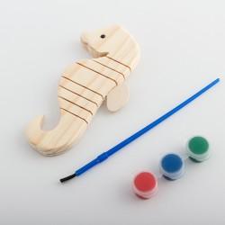 Animal 3D en Bois à Peindre (5 pièces)