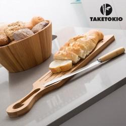 Planche et Couteau à Couper le Pain Bambou TakeTokio