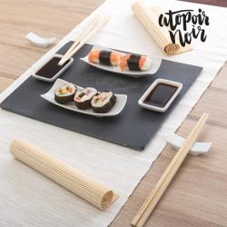 Set de Sushi avec Plateau en Ardoise Atopoir Noir (11 pièces)