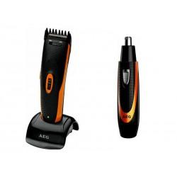 Tondeuse HSM/R 5597 NE AEG. pour cheveux. barbe + Dépilateur poil de nez/oreille