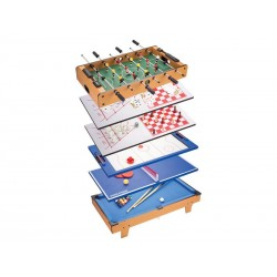 Table Jeux multiples 8 en 1 (Baby-foot. Billard. Echecs...) 82cm