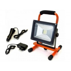 Spot halogène rechargeable 20 watts LED Arcas (Orange)