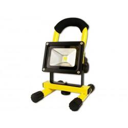 Spot halogène rechargeable 10 watts LED Arcas (Jaune)