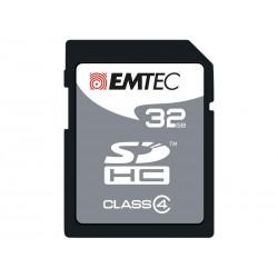 SDHC 32Go EMTEC CL4 Silver Memory - Sous blister