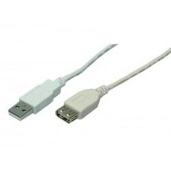 Rallonge USB 2.0 LogiLink prise mâle femelle Gris 2m (CU0010)