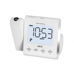 Radio-réveil AEG MRC 4122 F N avec projection - Blanc