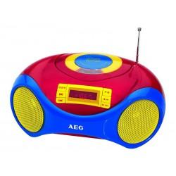 Radio-CD stéréo portable AEG SR 4363 CD Kids Line avec micro