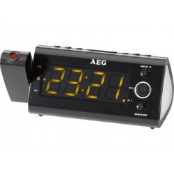 Radio réveil projecteur AEG MRC 4121 P avec capteur infrarouge - Noir