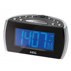 Radio réveil AEG MRC 4119 P N avec projection de l´heure - Noir
