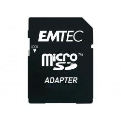 EMTEC MicroSDHC 32GB CL4 Silver Memory avec adaptateur - sous Blister