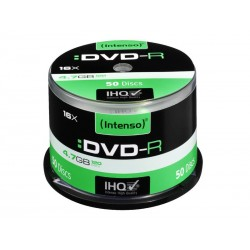 Pack de 50 DVD-R 4.7 GB 16x Speed Intenso