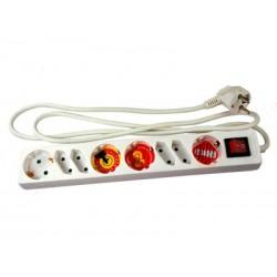 Bloc multiprise Arcas 8 prises avec interrupteur