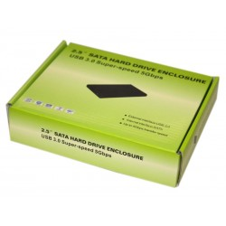 Boitier disque dur HDD 2.5 Super Speed USB 3.0 SATA noir