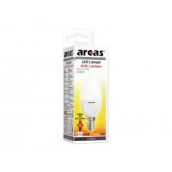 Ampoule économique LED Arcas 6W (=40W) Lumière chaude blanche 3000K E14 (470 Lumens)