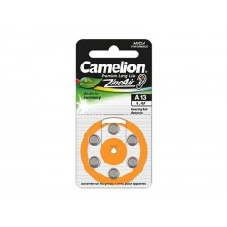 6 piles pour appareil auditif Camelion Zinc-Air A13 0% Mercury/Hg - Orange