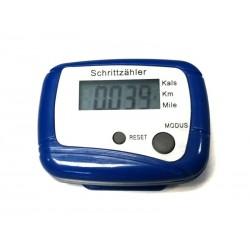 Pédomètre KM - Compteur de calories (Bleu)