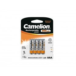 Pack de 4 piles rechargeables Camelion AAA Micro 900mAH