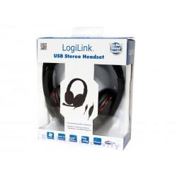 Casque stéréo USB LogiLink (HS0033) - Noir