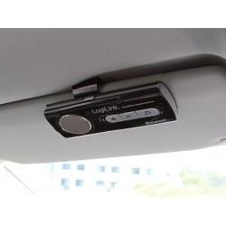 Kit mains-libres Bluetooth LogiLink Enceinte pour voiture (BT0014) Noir-Argent