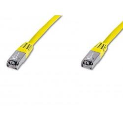 Câble réseau Digitus Câble patch CAT 5e F-UTP DK-1521-010/Y (1m/Jaune)