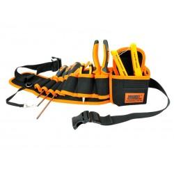 Ceinture porte-outils professionnelle Jakemy TOOLS JM-B04 (noir-orange)