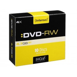 Pack de 10 DVD-RW 4.7 GB 4x Speed Intenso (Slim Case)