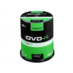 Pack de 100 DVD-R 4.7 GB 16x Speed Intenso