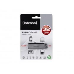 Clé USB 32Go 2 en 1 Intenso Mobile Line OTG - Sous blister