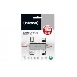 Clé USB 16Go 2 en 1 Intenso Mobile Line OTG - Sous blister