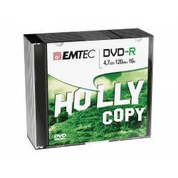 Pack de 10 DVD-R EMTEC 4.7 GB Vitesse 16x - Slim Case